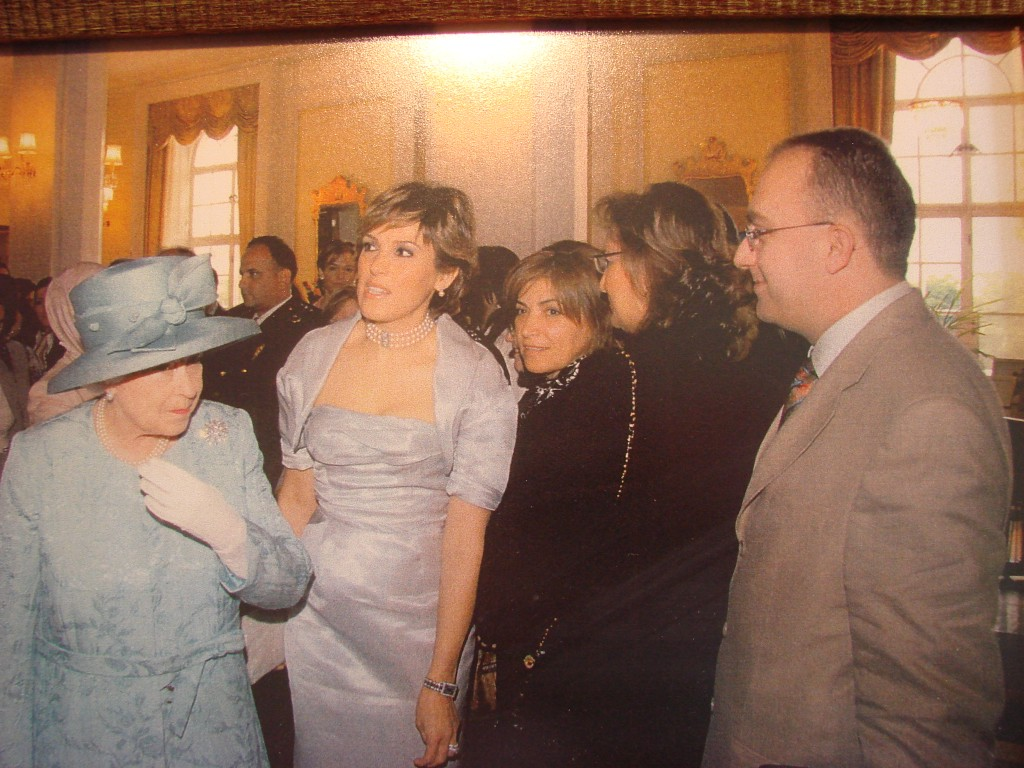 With her majesty Queen Elizabeth at the British Consulate of Ankara 2009